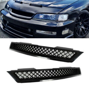 Honda Accord Abs Black Type R Front Hood Bumper Mesh Grille Fit Accord 1994 1997