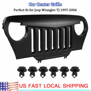 Abs Black Car Front Face Center Grille Fit For Jeep Wrangler Tj 1997 2006 Usa