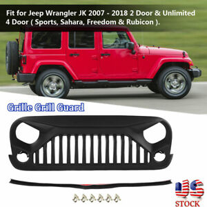 2007 2018 Car Grille Grill Guard Cover Protective Cover For Jeep Wrangler Jk