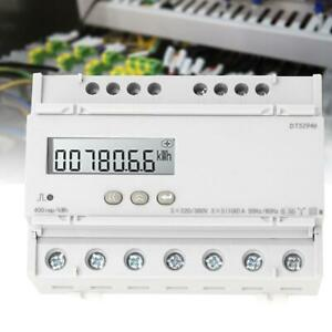 Dts1946 Three phase Four wire Lcd Rail mounted Digital Power Meter