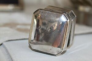 Antique Art Deco Sterling Silver Birks Jewelry Ring Box 43 G