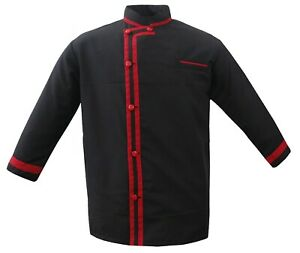 Leorenzo Creation Dh 02 Men s Chef Jacket In Many Trim Colour Chef Coat