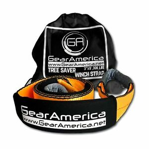 Gearamerica Tree Saver Winch Strap 3 X8 Heavy Duty 35 000 Lbs 17 5 Tons