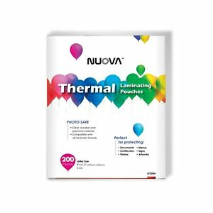 Nuova Premium Thermal Laminating Pouches 9 X 11 5 letter Size 3 Mil 200 P