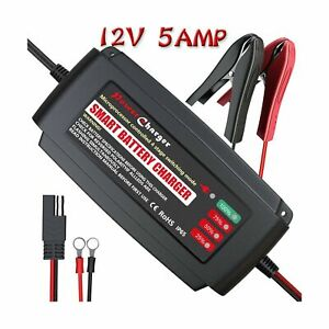 Lst Automatic Battery Charger Maintainer 12v Portable Smart Deep Cycle Trickl