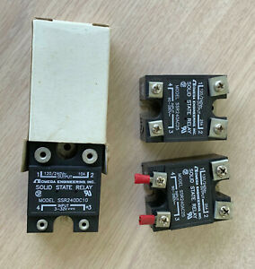 Three Omega Solid State Relays 120 240v Ac And Dc