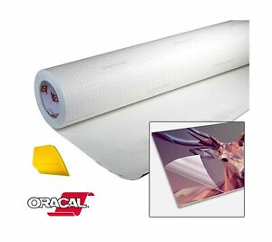 Oracal High Gloss Self adhesive Clear Lamination Vinyl Roll For Die cutter An