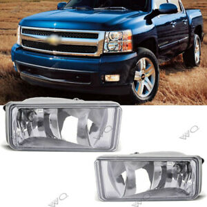 For 2007 2013 Chevy Silverado 1500 2500 Hd Tahoe Clear Bumper Fog Lights Lamps