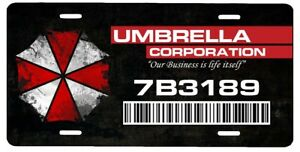 New Custom Resident Evil Umbrella Corporation Vanity License Plate Car Tag