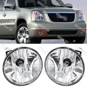For 2007 2013 Chevy Avalanche Suburban Tahoe Gmc Clear Fog Lights Driving Lamps