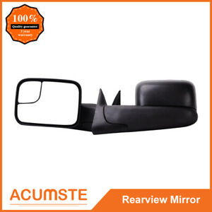 Telescoping Tow Manual Side Mirrors L R For 1994 2001 Dodge Ram 1500 2500 3500