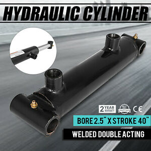 Hydraulic Cylinder Welded Double Acting 2 5 Bore 40 For Log Splitter New