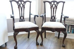 English Chippendale Dining Chairs