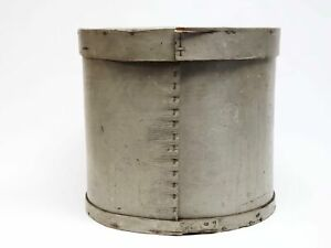 Large Country Primitive Bentwood Pantry Box With Aged Gray Paint