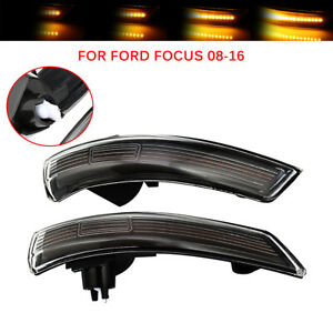 Dynamic Mirror Indicator Turn Signal Light Smoked Lens For Ford Focus 2008 2016