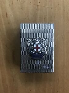 Sterling Silver Antique Match Book Case Cover From London