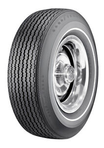 Speedway Wide Tread 350 White Stripe Tire 4 Ply Polyglas Tire F70 14 Goodyear