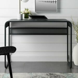 Manor Park Urban Industrial Metal Writing Laptop Desk