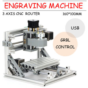 Mini Cnc 1610 500mw Laser Engraving Machine Pcb Milling Wood Router Usb Engraver