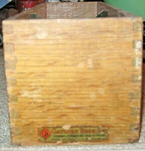 Vintage 3 X 5 Wooden Box Library Card File Dovetail Oak Gaylord Brothers Label
