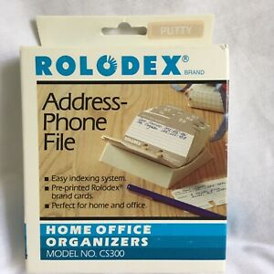 Rolodex Covered Address Phone Refill File Cards Cs300 New Old Stock Putty