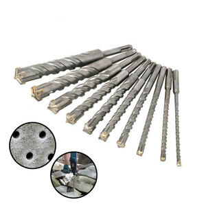 6 25mm Sds Plus Hammer Drill Bits For Ceramic Concrete Rotary Tool 210mm 10pcs