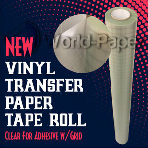 Clear 651 Application Transfer Tape W grid For Adhesive Vinyl Roll Made Usa 1