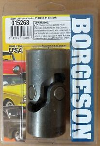 New Borgeson Steel Steering Universal Joint 1 Dd X 1 Smooth Bore 015268