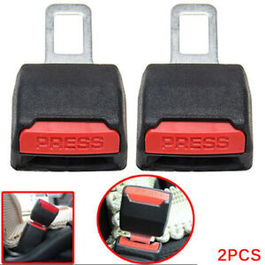 Pair Universal Car Safety Seat Belt Buckle Extension Extender Clip Alarm Stopper
