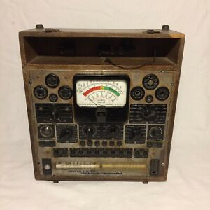 1940 s Precision Apparatus Series 920 Electronamic Tube Tester for Parts