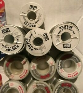 Lot Of Do It Best Silver Solder 4 Lbs And Alpha Fry Flo Temp Solder 6lbs New
