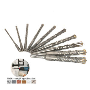 210mm Rotary Hammer Drill Bit Sds Plus Bits Set For Drilling Concrete Wall 10pcs