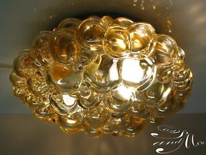 Huge True Vintage Helena Tynell Bubble Glass Mid Century Ceiling Lamp