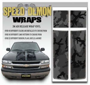 Truck Racing Stripes Chevy Tahoe Graphic Decal Black Camo Fits 2000 2006 Blk