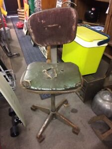 Vintage Evertaut Machinists Chair Industrial Chair Stool Needs Work