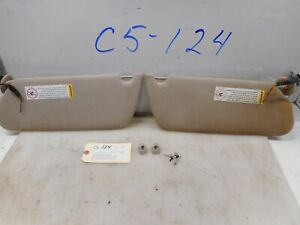 1999 Cadillac Deville Sun Visors W Clips Tested