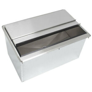 18 X 36 Stainless Steel Drop In Ice Bin With Cold Plate