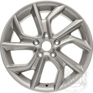 New Set 4 17 Replacement Alloy Wheels And Centers For 2013 2018 Nissan Sentra