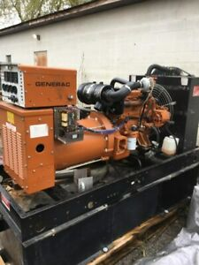 Generac 50 Kw Diesel Single Phase Standby Generator Only 421 Hours