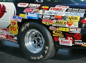 Racing Decals Stickers 15 Assorted Stock Car Drag Nascar Outlaw Nhra