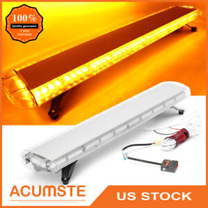 51 Inch 96 Led Strobe Lights Tow Truck Roof Emergency Warning Flash Amber Yellow