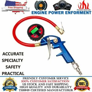 Tire Inflator With Digital Pressure Gauge 0 150psi Lock On Air Chuck And Hose