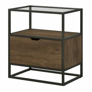 Bush Anthropology 1 Drawer Lateral File Cabinet In Rustic Brown
