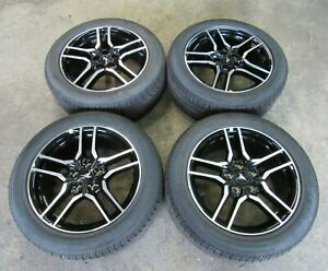 New Takeoff 2015 2019 Original Ford Mustang Gt Black 18 Wheels And Tires