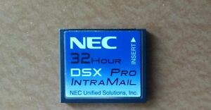 Nec Dsx 40 80 160 1091053 V2 1 G Intramail 8 Port 32 Hour Pro Voice Mail System