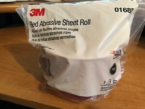 3m Red 1688 Stick It Adhesive Back Continuous Sheet Roll Sandpaper 80 Grit