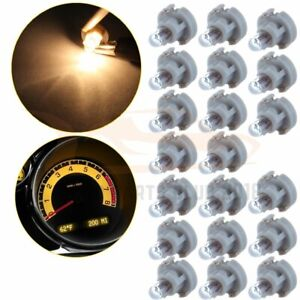 20x T3 Neo Wedge Bulbs Warm White 8mm A C Climate Control Lights Lamp For Honda