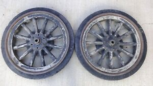 1917 1927 Model T Ford Tt Truck 24 Wood Spoke Wheels Original Hard Rubber Tires