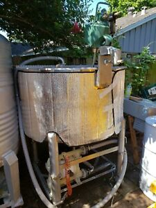 200 Gallon Stainless Steel Mixing Blending Tank With Mixer Food Grade