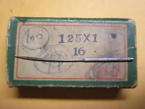Wheeler Wilson Singer 1w1 Curved Sewing Machine Needle Size 16 Qty 1
